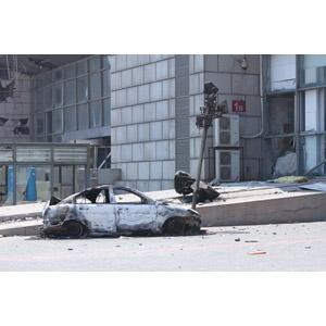 フリー写真, 災害, 事故, 破壊, 爆発, 自動車, 中国の風景, 2015年天津浜海新区倉庫爆発事故, 天津市