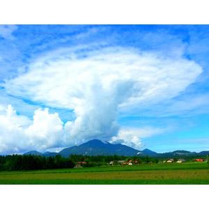 フリー写真, 風景, 空, 雲, 積乱雲(入道雲), キノコ雲