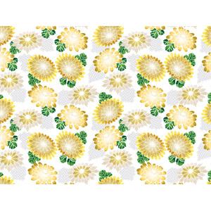 フリーイラスト, ベクター画像, AI, 背景, 和柄, 植物, 花, 菊(キク), 花柄
