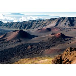 フリー写真, 風景, 自然, 火山, クレーター, 山, アメリカの風景, ハワイ州, ハレアカラ国立公園