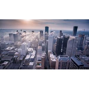 フリー写真, 風景, 建造物, 建築物, 高層ビル, 都市, 街並み(町並み), アメリカの風景, テキサス州, ヒューストン, 雲