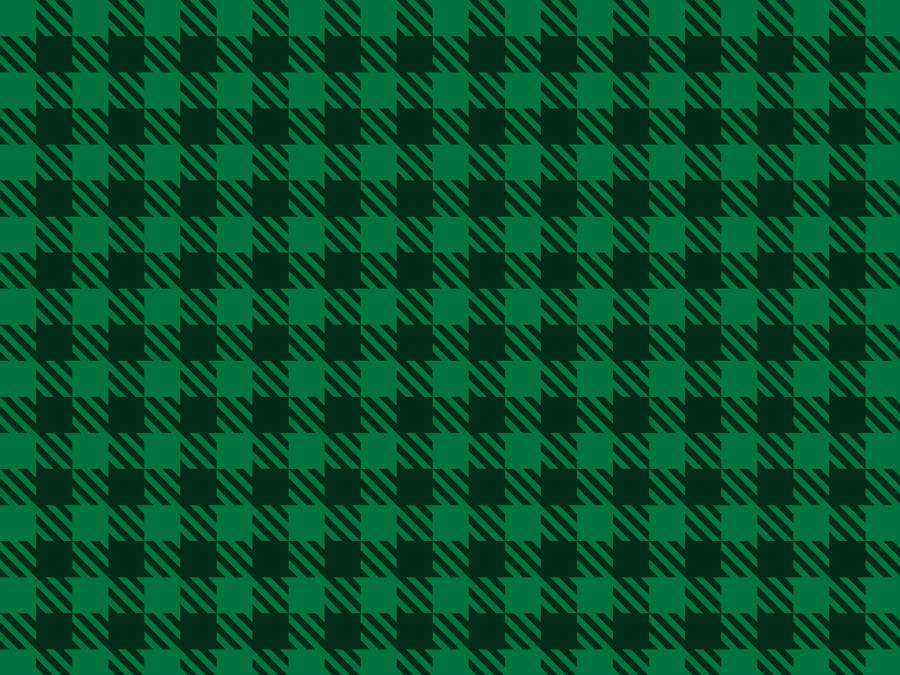 フリーイラスト 緑色のシェパードチェック柄の背景