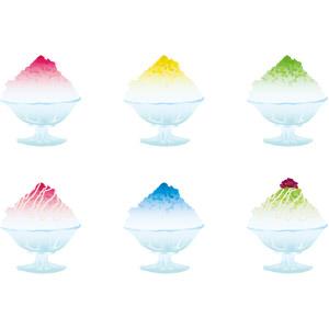 フリーイラスト, ベクター画像, AI, 食べ物(食料), 菓子, かき氷, 夏, 宇治金時