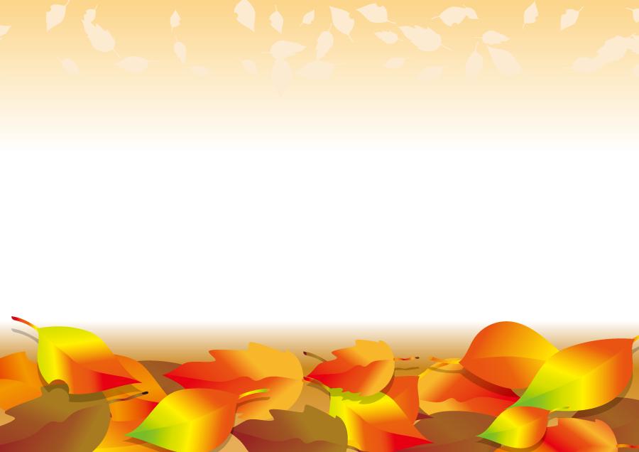 フリーイラスト 落ち葉の背景