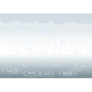 フリーイラスト, ベクター画像, AI, 天気, 雨, 梅雨, 6月, 波紋