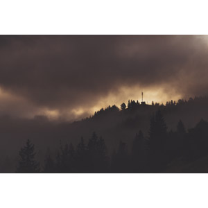 フリー写真, 風景, 山, 雲, 暗雲