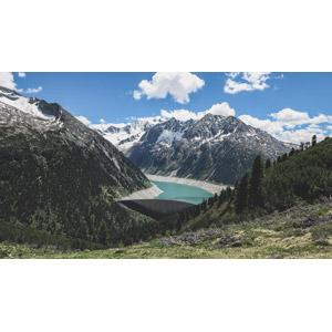 フリー写真, 風景, 建造物, ダム(堰堤), 河川, 山, オーストリアの風景
