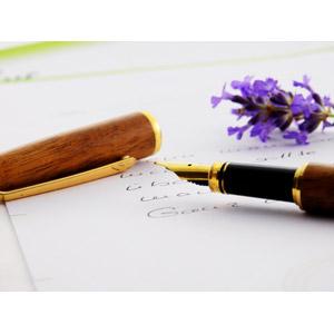 フリー写真, 文房具, 筆記用具, 万年筆, 手紙, 花