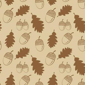 フリーイラスト, ベクター画像, AI, 背景, 秋, 植物, 葉っぱ, 落葉(落ち葉), どんぐり(ドングリ)