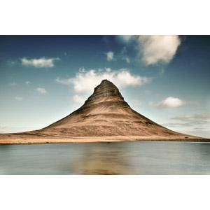 フリー写真, 風景, 自然, 山, 河川, アイスランドの風景, キルキュフェットル山