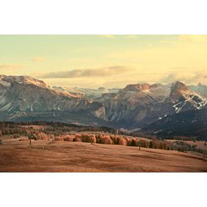 フリー写真, 風景, 山, 秋, アルプス山脈, イタリアの風景, チロル