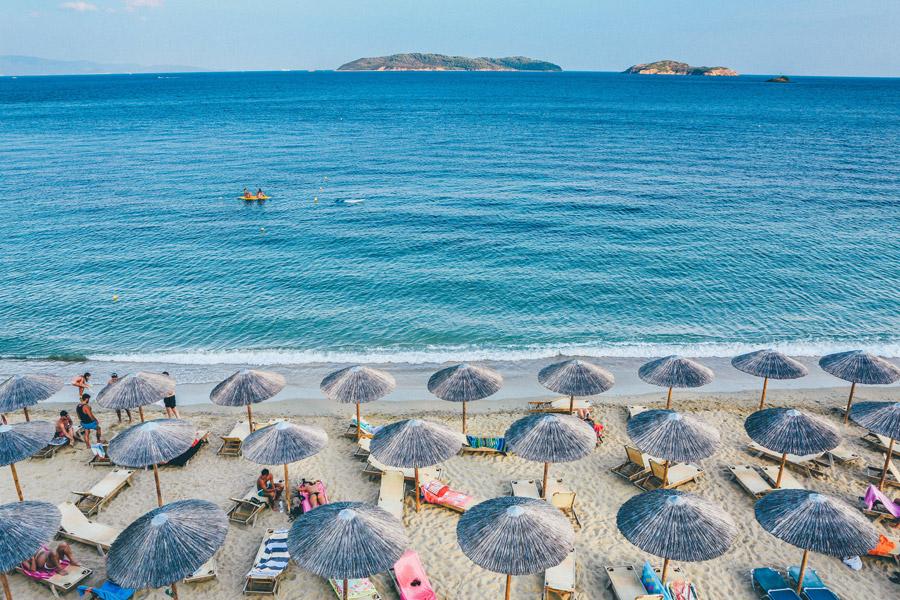 フリー写真 ギリシャのリゾートビーチと海