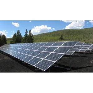 フリー写真, 機械, ソーラーパネル, 太陽光発電, 再生可能エネルギー, 発電, アメリカの風景, アイダホ州
