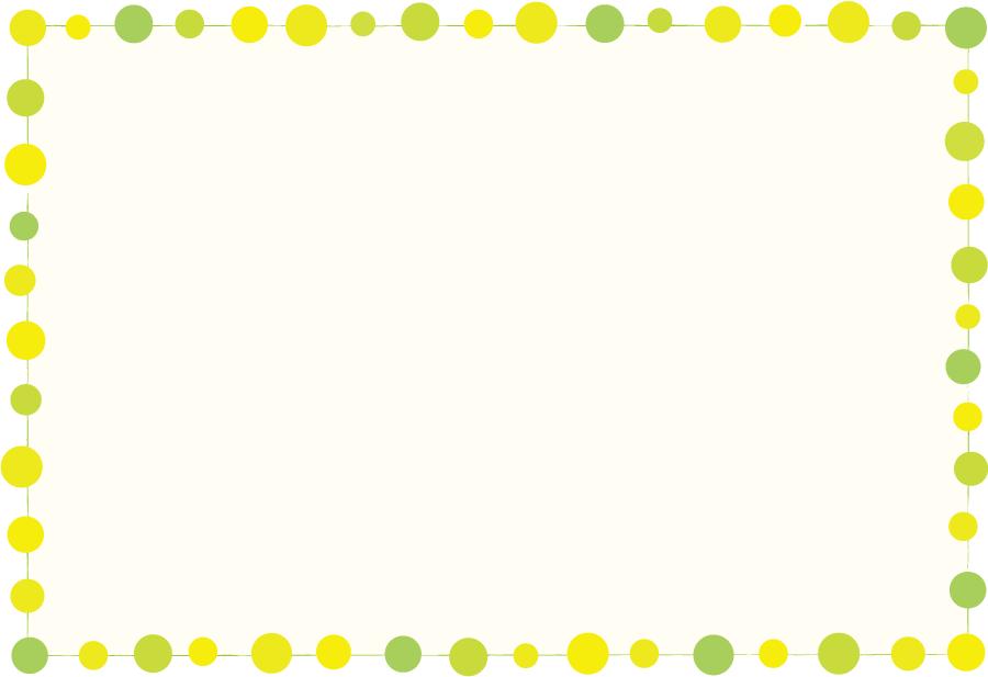 フリーイラスト 緑色の水玉の飾り枠