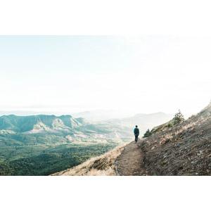 フリー写真, 風景, 山, 人と風景, 後ろ姿, バックパック, 登山, トレッキング