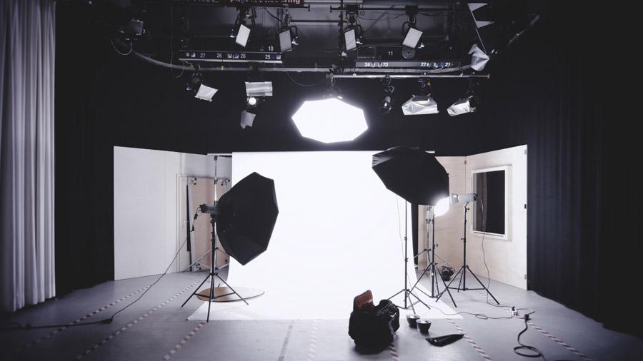 フリー写真 撮影スタジオの風景