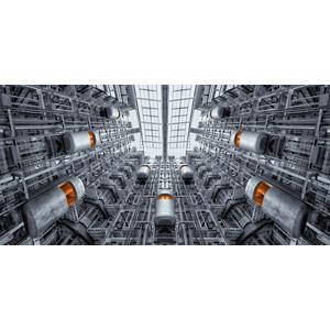 フリー写真, フォトレタッチ, 風景, 建造物, 建築物, エレベーター, ドイツの風景, ベルリン証券取引所, ベルリン
