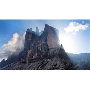 フリー写真, 風景, 自然, 山, 岩山, アルプス山脈, ドロミテ(ドロミーティ), イタリアの風景