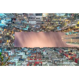 フリー写真, 風景, 建造物, 建築物, 高層ビル, マンション(団地), 日暮れ, 中国の風景, 香港