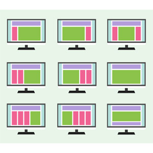 フリーイラスト, ベクター画像, SVG, ウェブサイト, デザイン, 液晶ディスプレイ, ディスプレイ(モニタ)