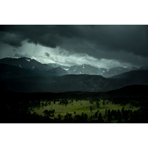 フリー写真, 風景, 自然, 雲, 暗雲, 山