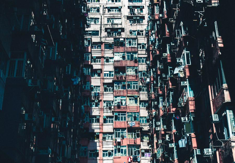 フリー写真 香港の高層住宅の風景