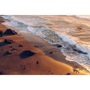 フリー写真, 風景, 自然, ビーチ(砂浜), 海, 夕暮れ(夕方), アイスランドの風景