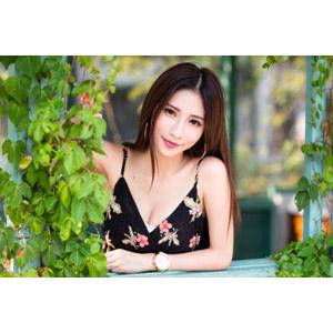 フリー写真, 人物, 女性, アジア人女性, 沈琪琪(00279), 蔦(ツタ)