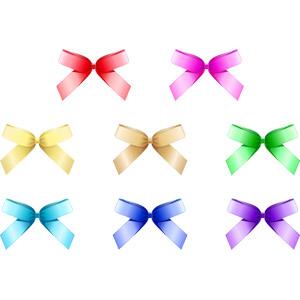 フリーイラスト, ベクター画像, AI, 飾り(装飾), リボン, 蝶リボン