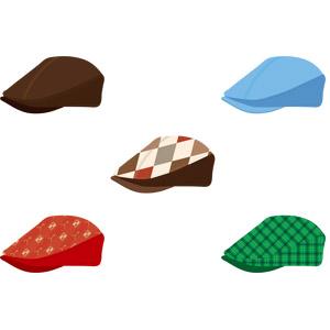 フリーイラスト, ベクター画像, AI, 帽子, ハンチング帽, メンズファッション, レディースファッション