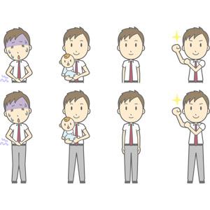 フリーイラスト, ベクター画像, AI, 人物, 少年, 少年(00274), 学生(生徒), 高校生, 学生服, 腹痛, 痛い, お腹を押さえる, 食あたり, 赤ちゃん, 腕をまくる, 頑張る