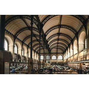 フリー写真, 風景, 建造物, 建築物, 図書館, フランスの風景, パリ, 本棚
