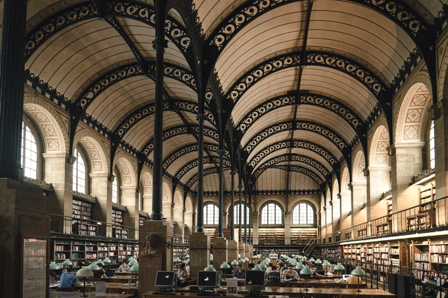 フリー写真 サント=ジュヌヴィエーヴ図書館