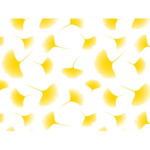 フリーイラスト, ベクター画像, AI, 背景, 植物, 葉っぱ, イチョウ, 紅葉(黄葉), 秋, 黄色(イエロー)